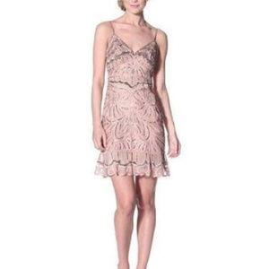 Sue Wong Women's Soutache Slip Dress Cocoa 8 #175